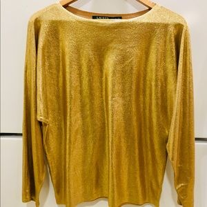 Ralph Lauren bright gold top.